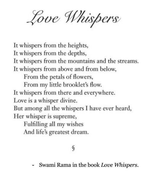 Love Whispers by Swami Rama