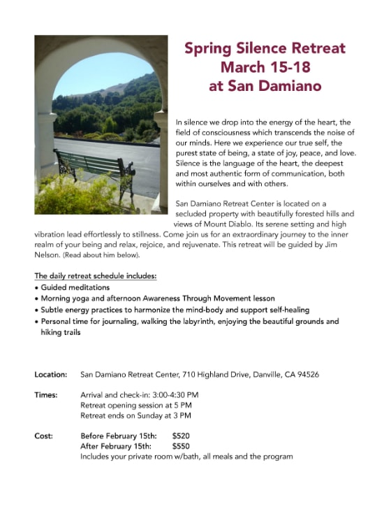 March 2018 Silence Retreat 1