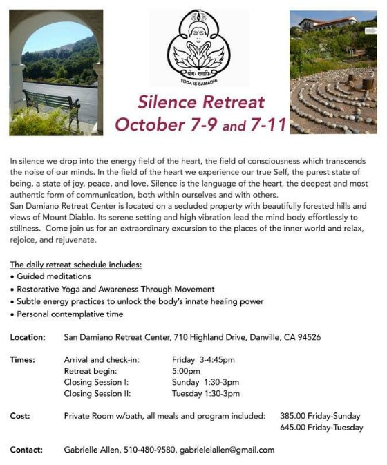 NoCal Silence Retreat