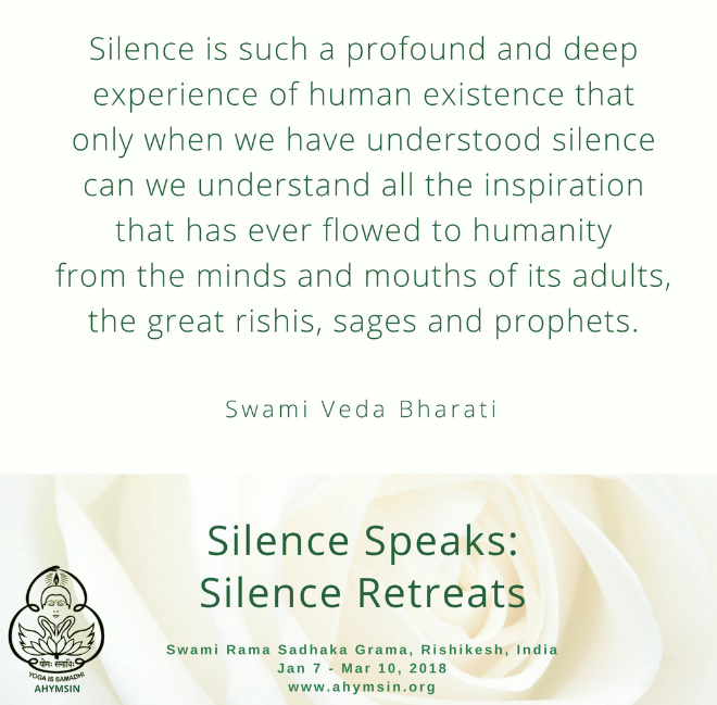 Silence Retreat March 2018