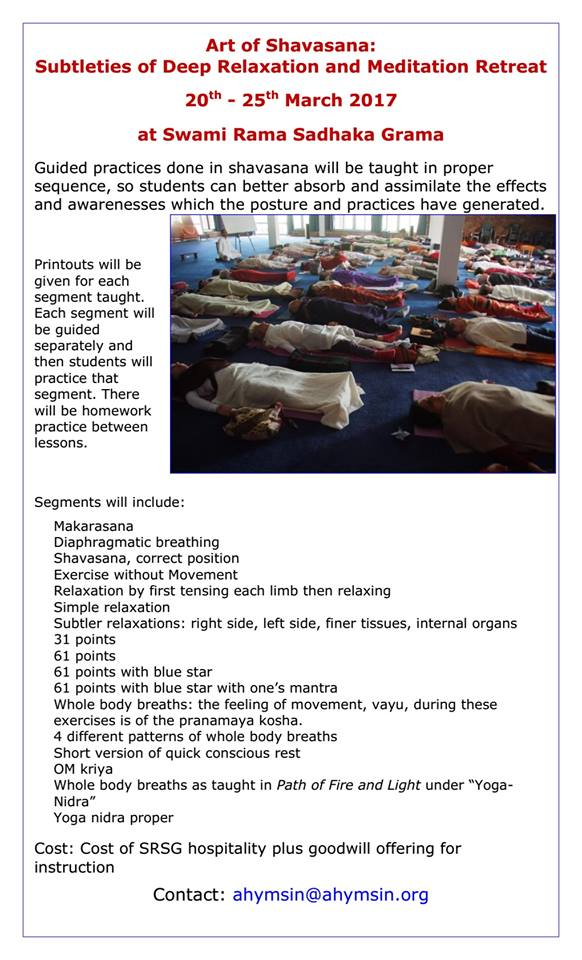 Art of Shavasana March 2017