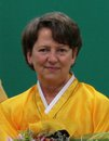 Photo of Maya Balog in Yellow Sari