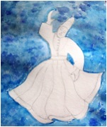 Dancing dervish – Water & pencil by Lalita Arya